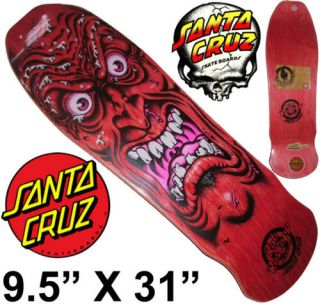 SANTA CRUZ Rob Roskopp Face Skateboard deck 9.5 Red Old Skool Jim