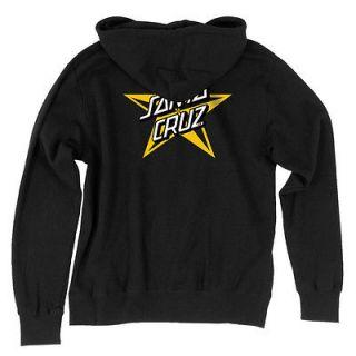 Santa Cruz Wave Dot Hooded Zip Sweatshirt Black