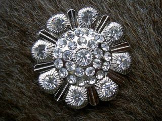 SILVER CRYSTALS RHINESTONES BLING CONCHOS HEADSTALL SADDLE TACK