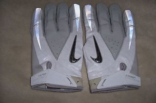 NIKE CARBON VAPOR RECEIVER FOOTBALL GLOVES NEW WHITE GREY SIZE XXXL