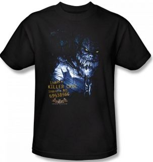 SIZES Batman Arkham Asylum Video Game Title Killer Croc DC T shirt top