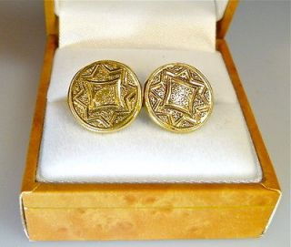 antique gold cufflinks in Jewelry & Watches