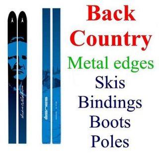 NEW real BACK COUNTRY BC cross country XC SKIS/BINDINGS/BOOTS/POLES