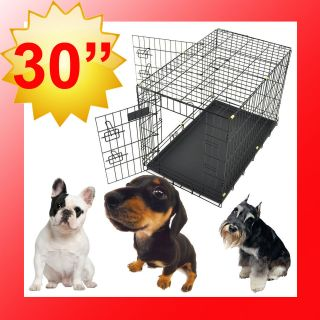 New Champion 30 Portable Folding Dog Pet Crate Cage Kennel Two Door