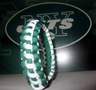 York Jets Survival Strap Paracord Bracelet Wristband NFL Custom Sized
