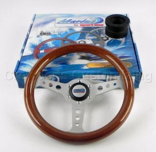 Sport Line 320 mm Wood Marine Boat Steering Wheel + Hub
