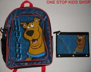 SCOOBY DOO Boys School Bag BACKPACK & PENCIL CASE Tote Pouch