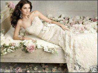 New White Ivory Lace Beach Wedding Dress Bridal Gown Stock Size6 8 10