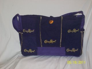 Crown Royal Purple Gold Hand Quilted Bag Tote Purse