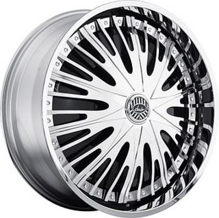 22 DAVIN REVOLVE SPINNERS Cruel Intent WHEEL SET 22x9.5 RIMS 5   6