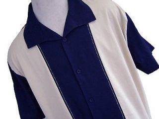 NWT Mens Retro Bowling Shirt Charlie Sheen Sopranos Vtg 50s Poker Club