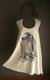 R2 D2 R2D2 STAR WARS ROBOT PUNK T Shirt TANK TOP TUNIC VEST **ONE SIZE