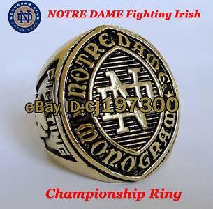 monogram Notre Dame Fighting Irish NCAA National Championship