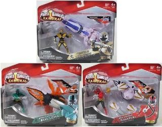 Lot of 3 Power Ranger Samurai OctoZord TigerZord BeetleZord Mega Red