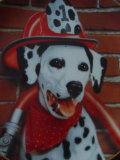 1992 Danbury Mint Collector Plate Fire Dog Capers Sparky Marty Roper