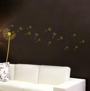 Flower Dandelion Wall Art Stickers Vinyl Decals Stylish Home