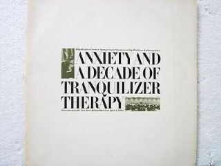 Anxiety and a Decade of Tranquilizer Therapy LP spoken Wallace
