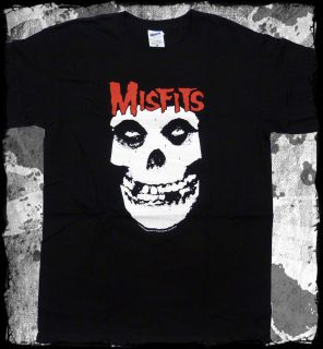 Misfits   Red Logo Crimson Ghost Skull t shirt   Official   FAST SHIP