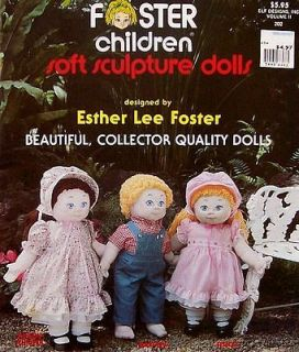 Sew Foster Children Soft Sculpture Dolls Collector Pattern Book