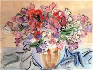 RAOUL DUFY Vase De Pois De Senteur flowers PRINT