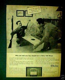 Daisy B B Pump Gun Old Western Air Rifle Toy (1963) AD