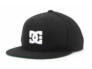 DC SHOES STARTER BACK TO IT BLACK FLAT BRIM SNAPBACK HAT CAP BRAND NEW