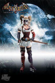DC Direct Batman Arkham Asylum Harley Quinn action figure MOC