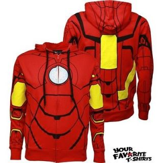 Costume Armor Suit Avengers Marvel Comics Licensed Zip Up Hoodie S XXL