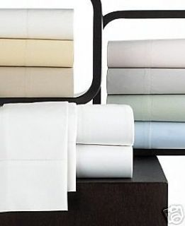 HUDSON PARK 600 Thread Count Egyptian Cotton QUEEN Fitted Sheet Ivory