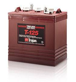 Trojan 6 Volt T 125 Golf Cart Batteries   6 Batteries