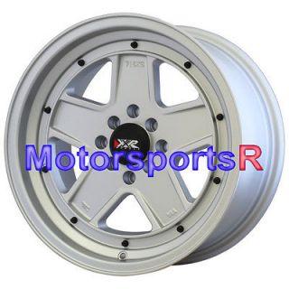 16 16x8 XXR 532 Flat Silver Wheels Rims Deep Dish Lip 4x114.3 94 Honda