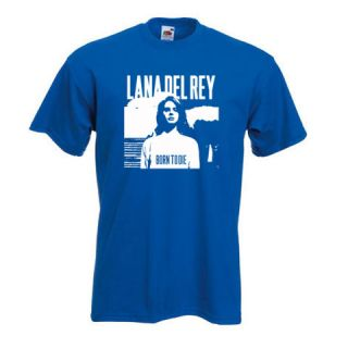 LANA DEL REY, BORN TO DIE, BLUE JEANS, MUSIC GIG FESTIVAL T SHIRT TOP
