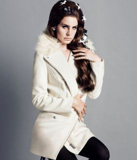 NWT H&M 2012 Fall Collection Lana Del Rey Angora Blended Wool White