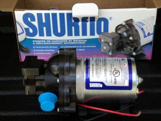 SHURFLO PREMIER RV BOAT AUTOMATIC DEMAND WATER PUMP MODEL 2088 422 444