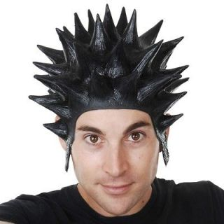 New Deluxe Latex Spikey Punk Black Dennis the Menace Costume Party Wig