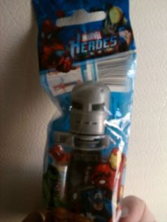 KLIK IRON MAN W/ DENT IN HELMET MARVEL MINT IN BAG KLIK
