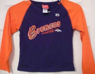 Denver Broncos Long Sleeve NFL Logo Shirt Kids Childrens size 4, 5, 6