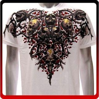 Couture T shirt Sz XXL Tattoo Skull Rider Ghost Devil bmx Biker Rock