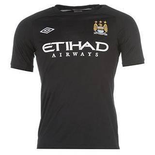 Mens Manchester City Training Jersey Shirt   Size S M L XL XXL   Black