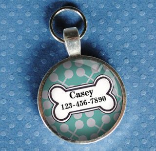 tags pet tag dog tag light turquoise from California Mutts NEW hanmade