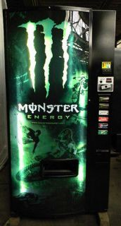 MONSTER PEPSI SODA POP WATER CAN BOTTLE VENDING MACHINE DIXIE NARCO