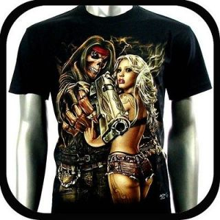 RC Survivor T Shirt Biker Punk Skull Tattoo C56 Sz M Rock Indie Sexy