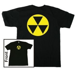 Fallout Shelter T Shirt Black/Yellow (S, M, L, XL) Nuclear Atomic Cold