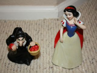 Vintage Disney Ceramic Figurines   Snow White and The Old Hag