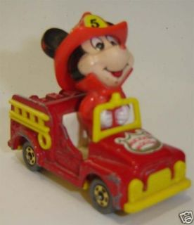 DISNEY MICKEY MOUSE FIRETRUCK MADE IN JAPAN by TOMY