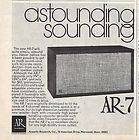 1973 ACOUSTIC RESEARCH AR 8 AR8 STEREO SPEAKERS AD