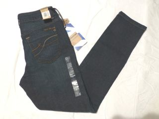 NWT WOMENS DKNY MID RISE SKINNY FIT SKINNY LEG JEAN $48 DARK BLUE