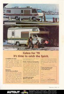 1978 Cobra Supreme Fiesta Spirit Motorhome RV Ad