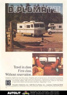 1976 Executive Diplomat II Motorhome RV Ad