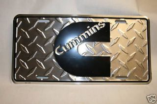 Dodge cummins diesel license plate tag injectors engine sign decal